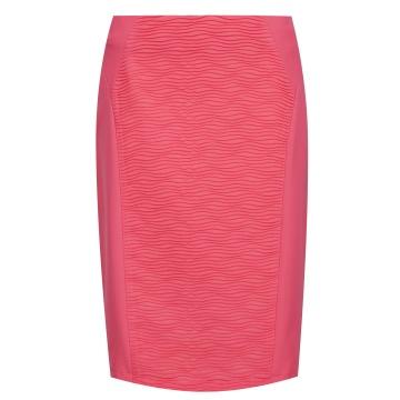 Różowa ołówkowa spódnica,...