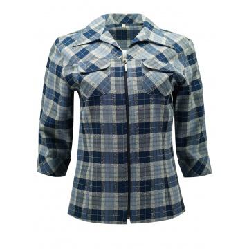 Niebieska bluzka damska w...