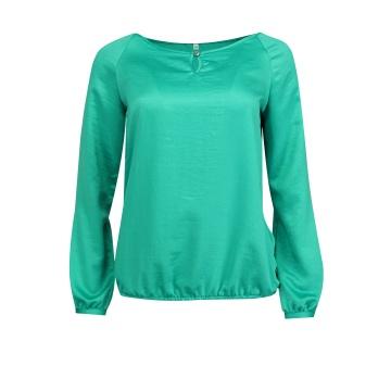 Zielona bluzka damska z satyny