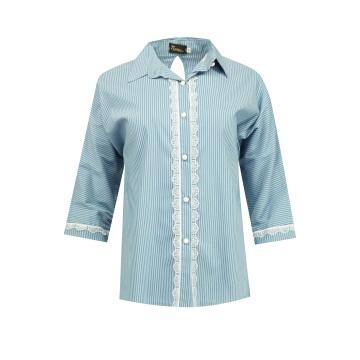 Niebieska bluzka koszulowa...