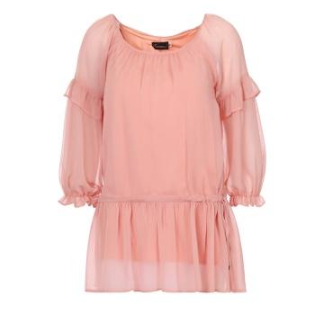 Różowa bluzka tunika...