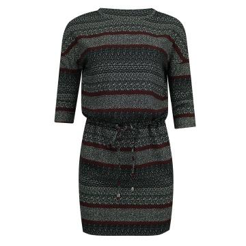 Sukienka we wzory z troczkiem