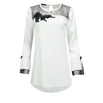 Biała bluzka tunika damska,...