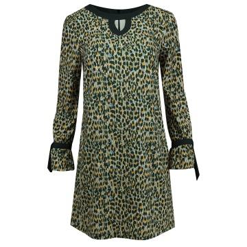 Sukienka mini w kolorowe wzory