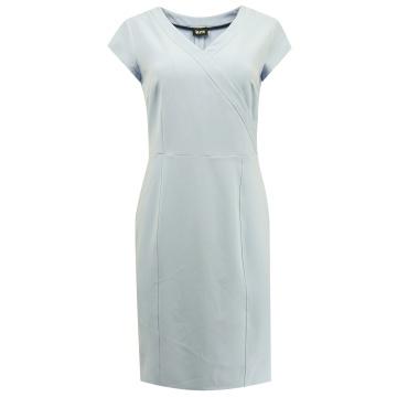 Błękitna ołówkowa sukienka