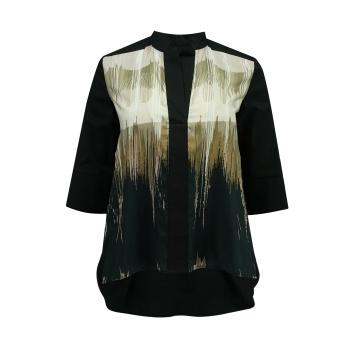 Czarna koszulowa bluzka damska