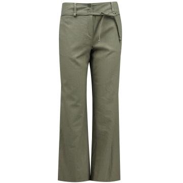 Lniane damskie spodnie w...