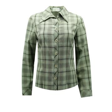Zielona bluzka damska w kratę