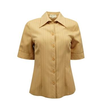 Beżowa bluzka damska w pasy
