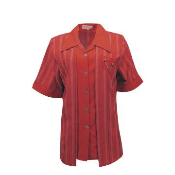 Czerwona bluzka damska w pasy