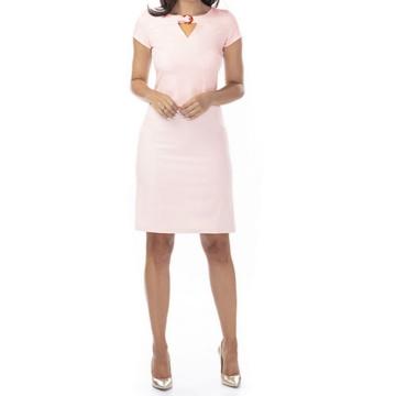 Różowa  ołówkowa sukienka z...