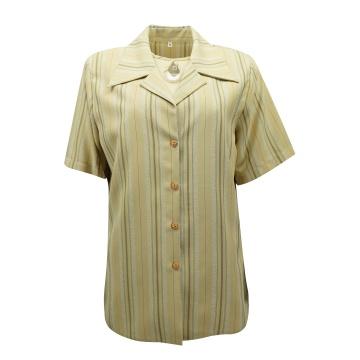 Beżowy żakiet damski z bluzką
