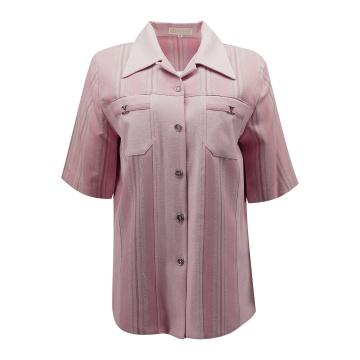 Różowa bluzka damska w pasy