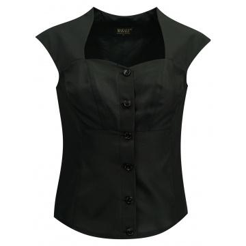 Czarna bluzka kamizelak damska
