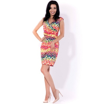 Kolorowa sukienka zakładana...