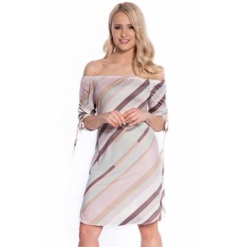 Luźna sukienka w pastelowe...