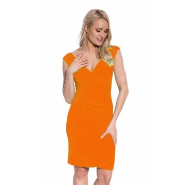 Pomarańczowa sukienka...