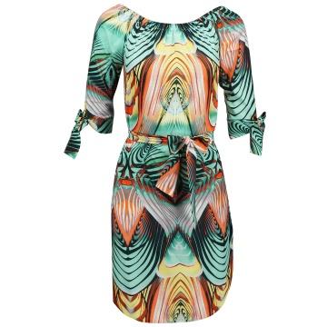 Kolorowa sukienka z...