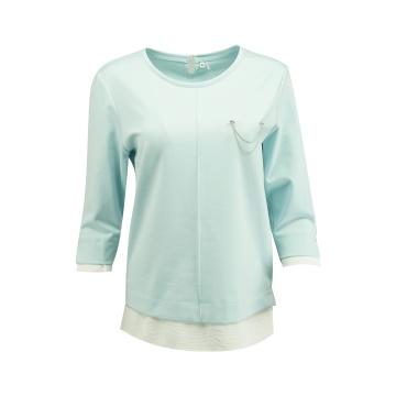 Błękitna bluzka damska z...