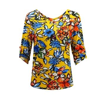 Bluzka damska w kolorowe...