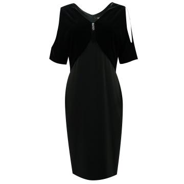 Czarna sukienka z weluru,...
