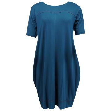 Granatowa luźna sukienka...
