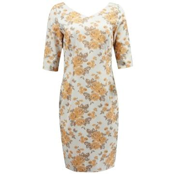 Kremowa ołówkowa sukienka...