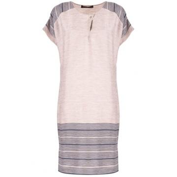 Beżowa sukienka z wiskozy i...