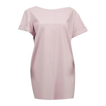 Różowa mini sukienka z...