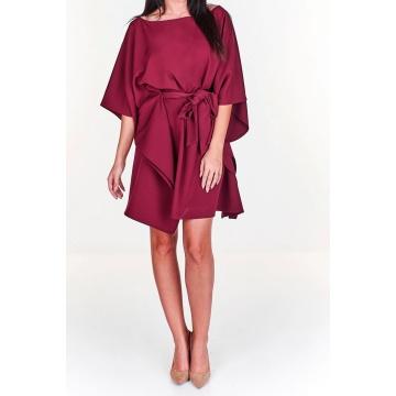 Wiśniowa sukienka oversize...