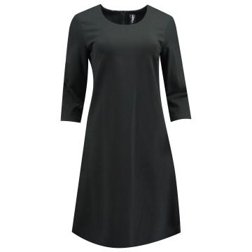 Czarna trapezowa sukienka z...