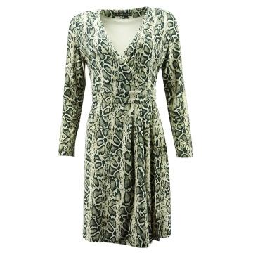 Brązowa przewiewna sukienka...