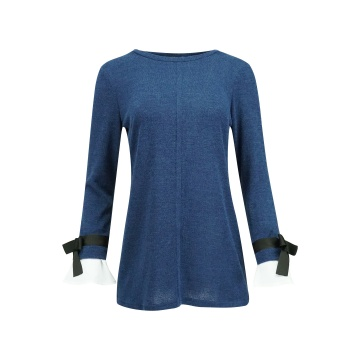 Granatowa bluzka tunika z...