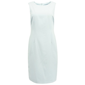 Błękitna ołówkowa sukienka...