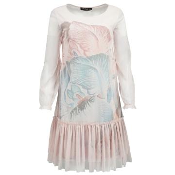 Różowa zwiewna sukienka z...