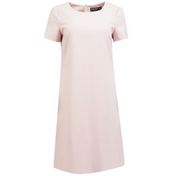 Różowa trapezowa sukienka z...