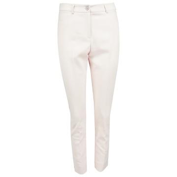 Różowe spodnie damskie z...