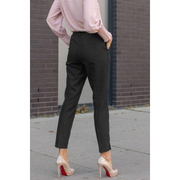 Czarne spodnie damskie w...