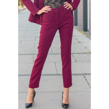 Bordowe spodnie damskie...
