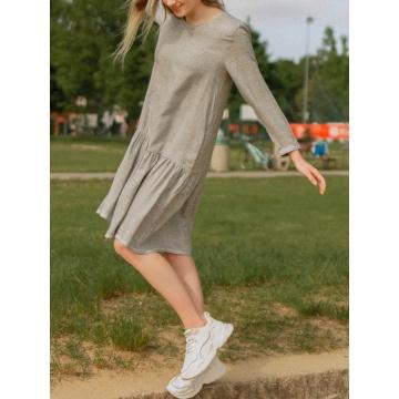 Szara sukienka z wiskozy z...