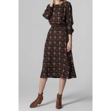 Długa sukienka z wiskozy w...