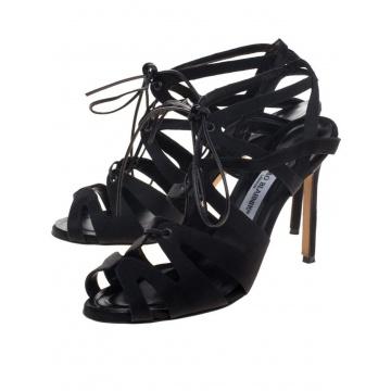 Czarne skórzane sandały...