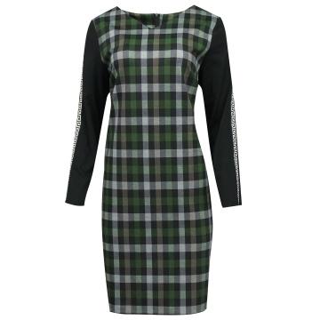 Sukienka w zieloną kratę z...
