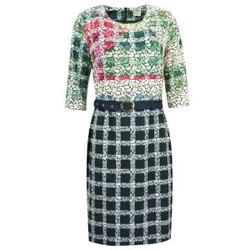 Sukienka w kolorowe wzory z...