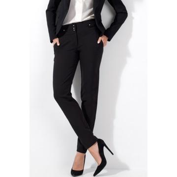 Czarne ołówkowe spodnie...