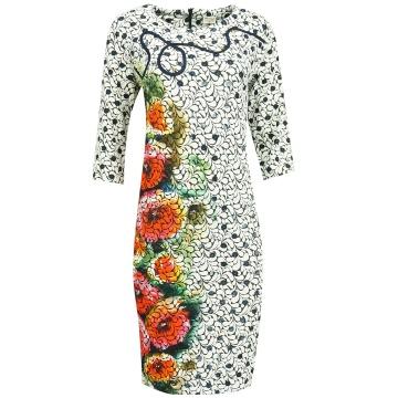 Sukienka w kolorowe wzory 602