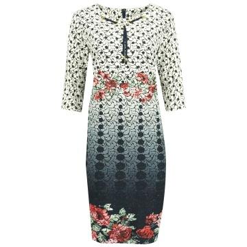 Sukienka w kolorowe wzory...