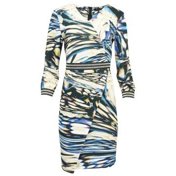 Sukienka w niebiesko-beżowe...