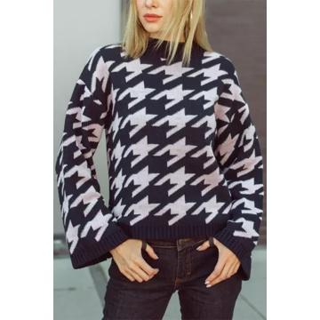 Sweter damski z wełną i...
