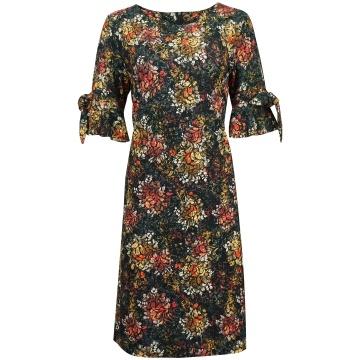 Sukienka w kolorowe wzory,...
